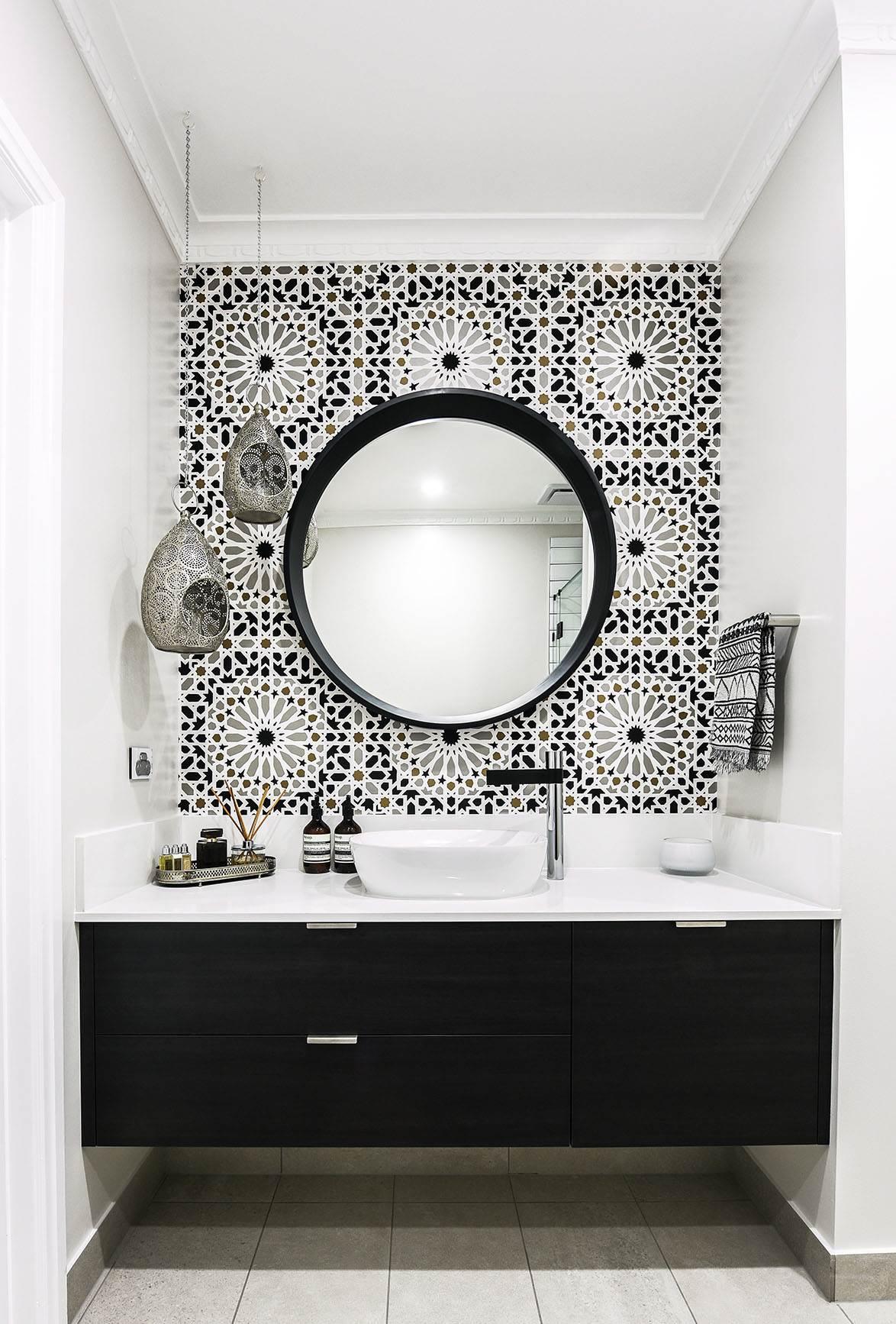 bathroom industrial monochrome