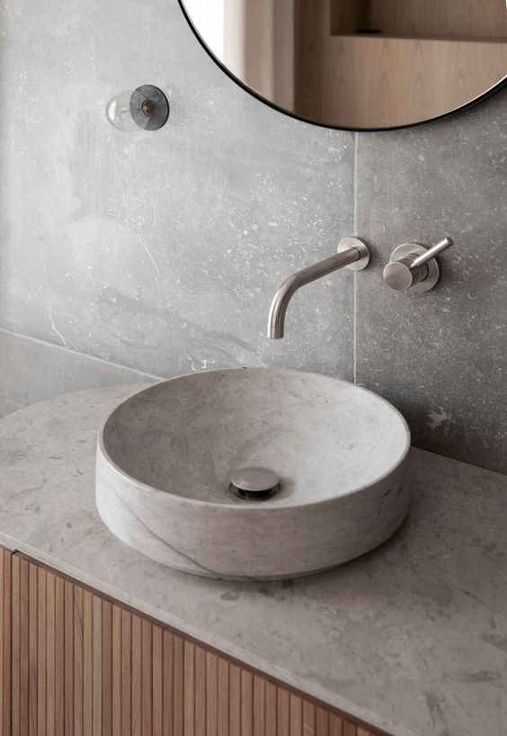 stone bathroom basin