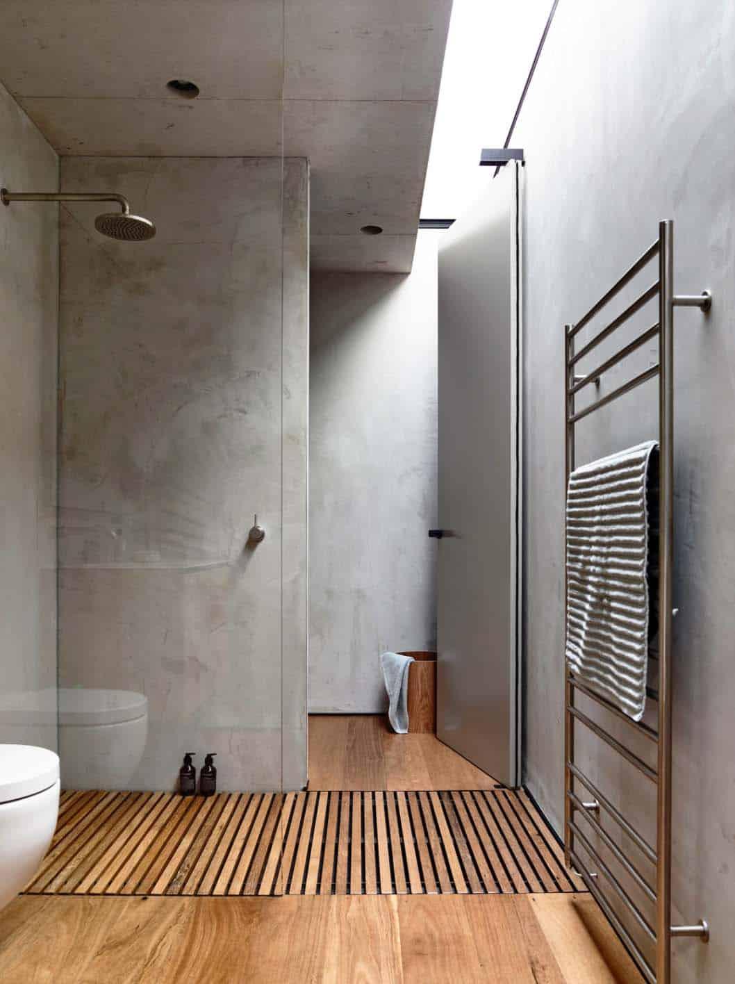 Concrete bathroom