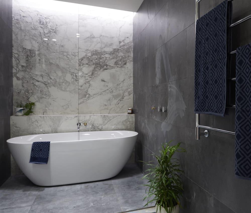 bathroom industrial marble
