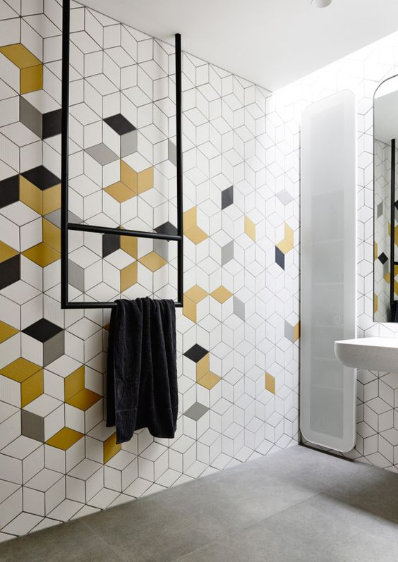 bathroom industrial geometrical
