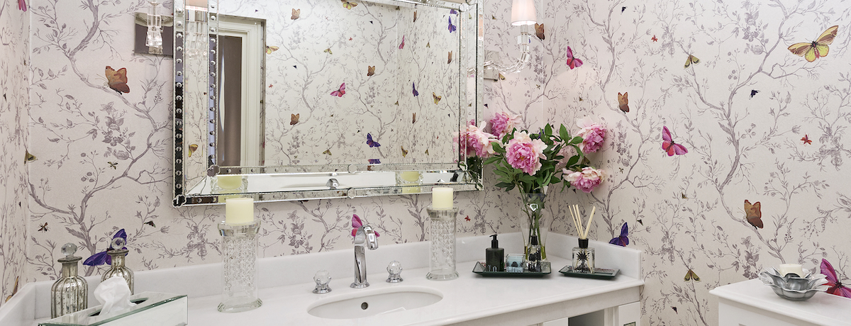 40 Beautiful bathroom wallpaper ideas