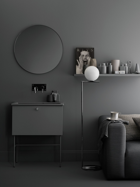 dark grey swoon bathroom