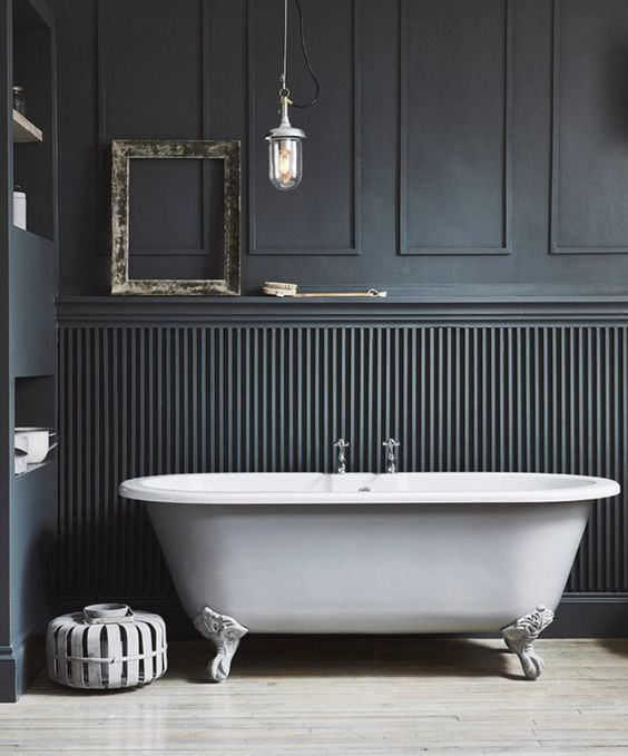 dark panelling and wainscoting