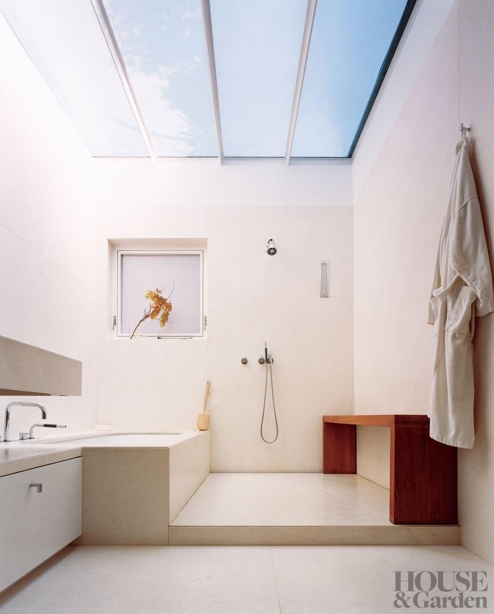 doorless shower