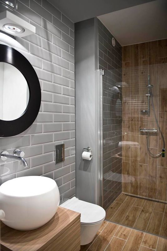 bathroom industrial wood