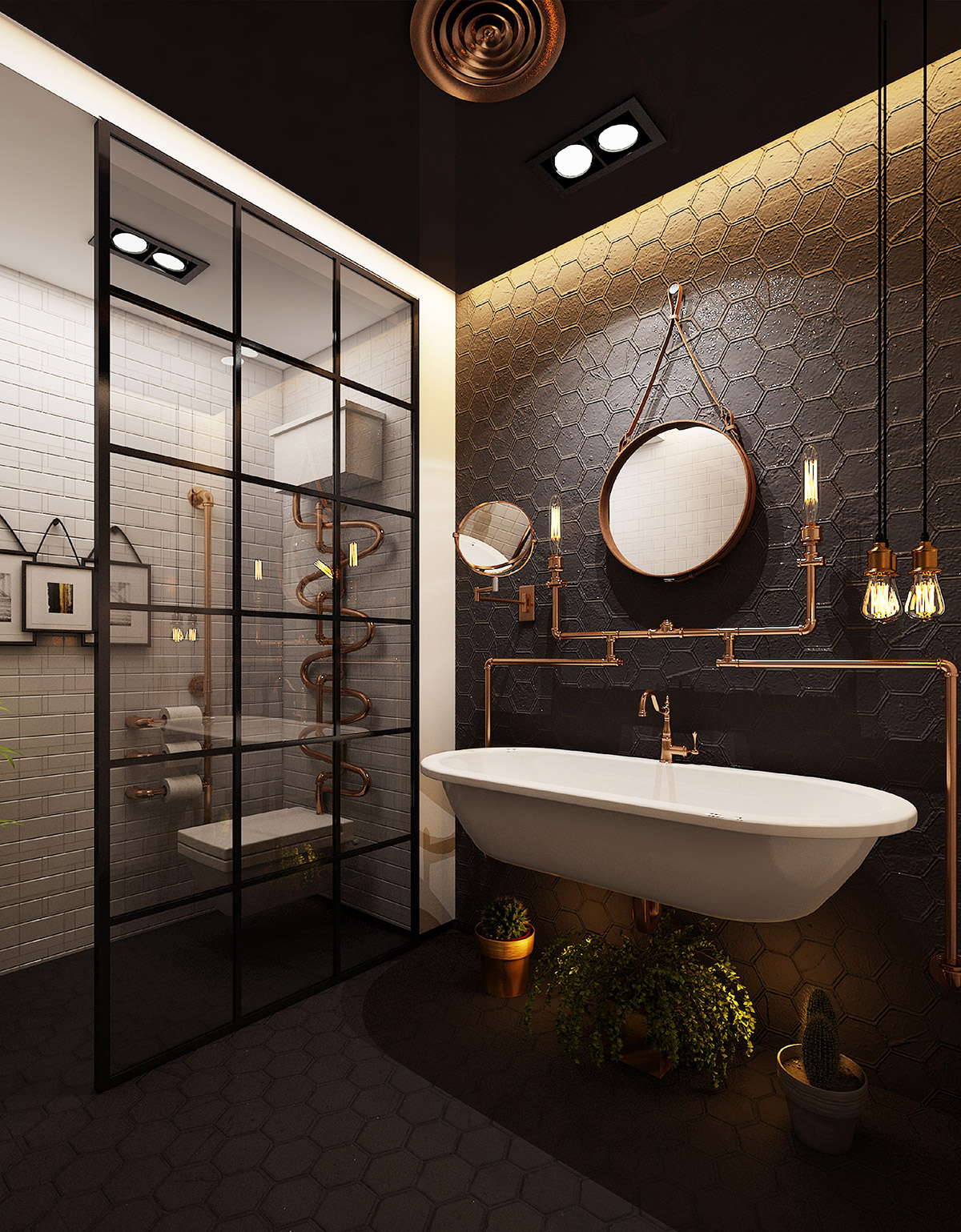 3+ industrial bathroom ideas for you - perfect for renovation