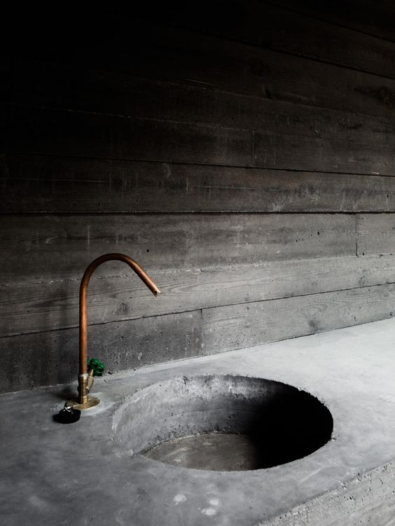 industrial rustic bathroom
