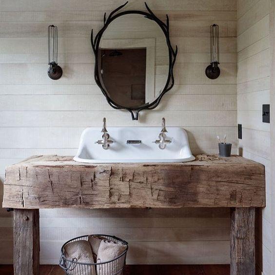 large rustic vanity