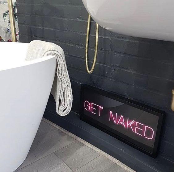 bathroom neon sign