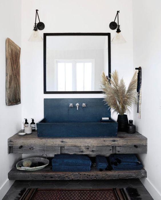 rustic vanity