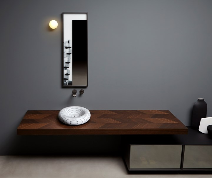 modern dark bathroom