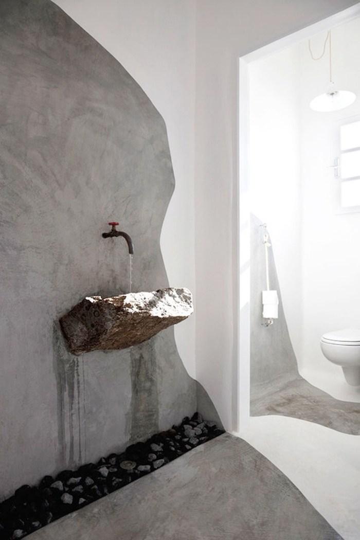 wabi sabi stone sink