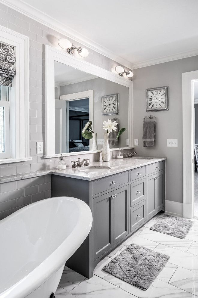 40+ Grey bathroom ideas - grey and white bathrooms, grey ...