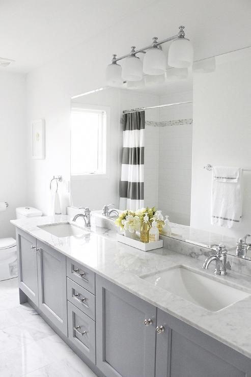 Marble grey bathroom