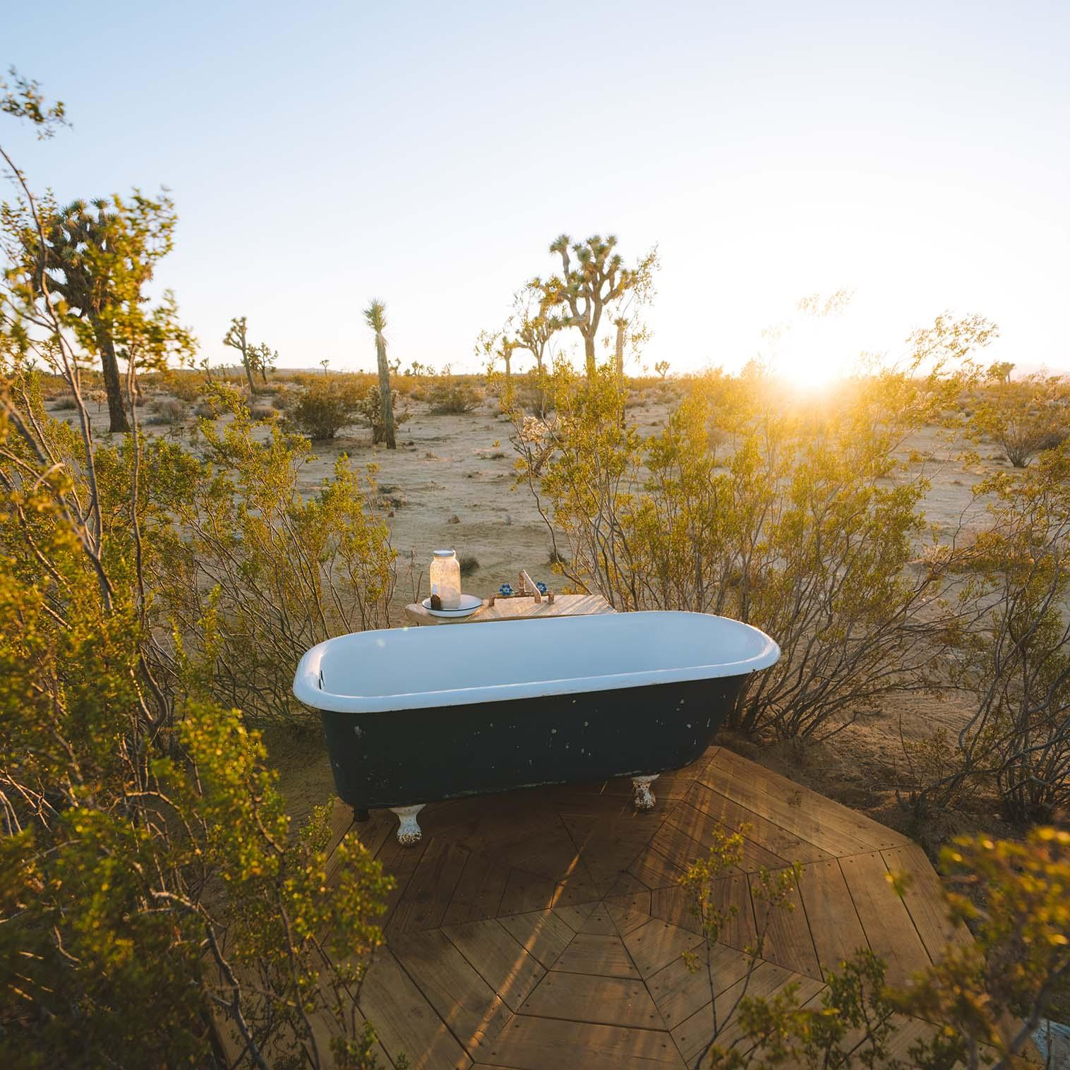 Bath tub in desert