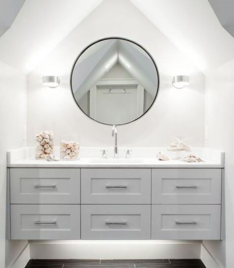 backlighting in bathroom floating vanity
