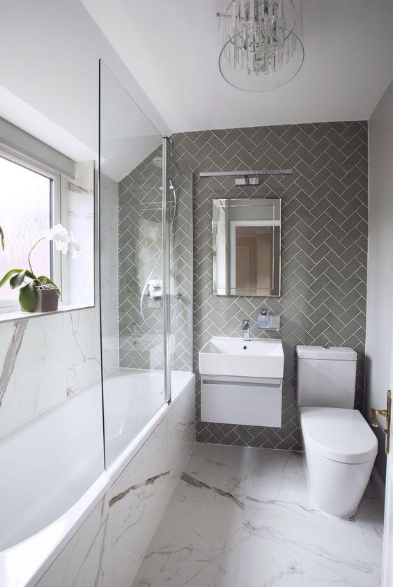 Narrow bathroom