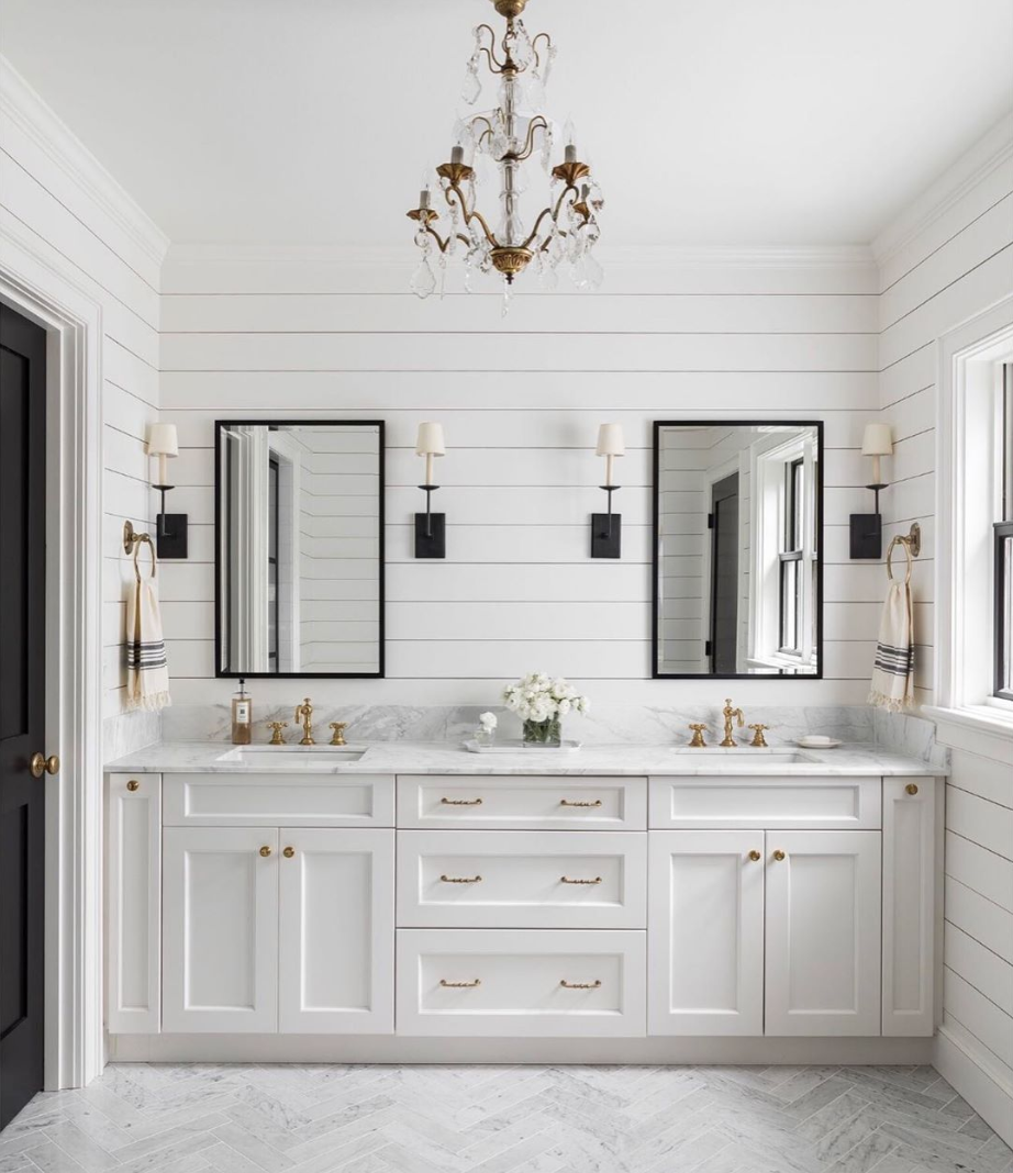 chandelier bathroom and wall sconces