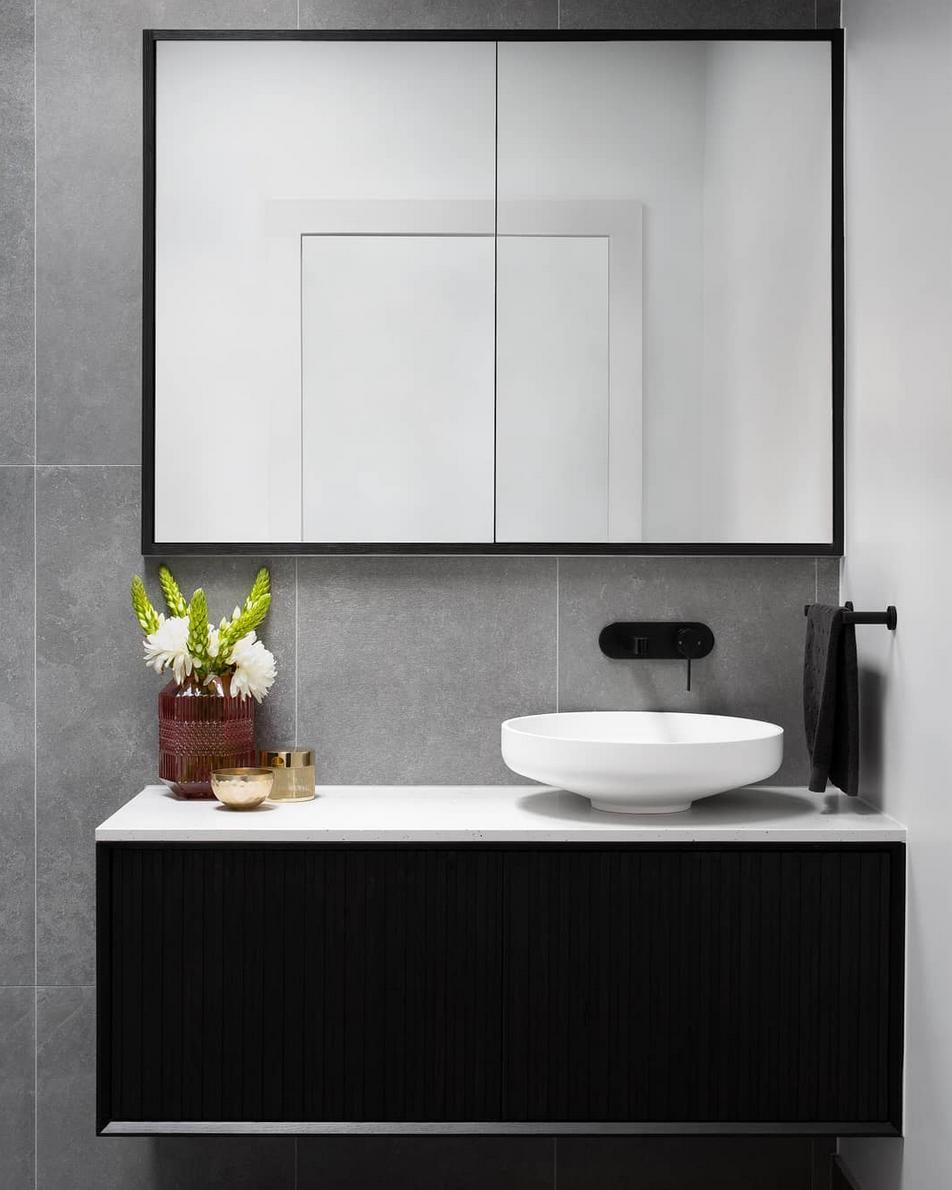 Black and grey bathroom