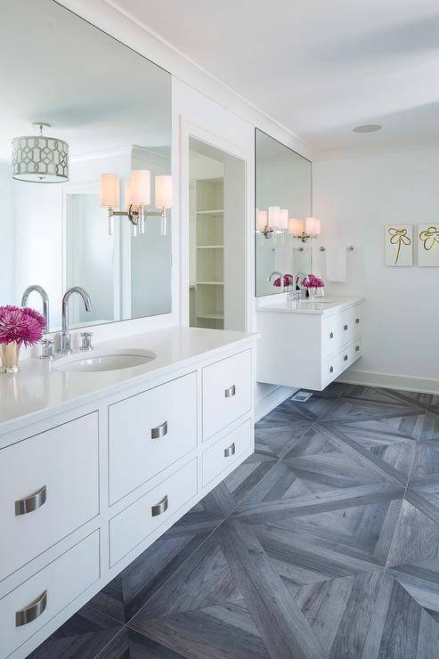 double vanities large white bathroom