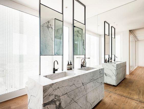 luxe Jack and Jill bathroom