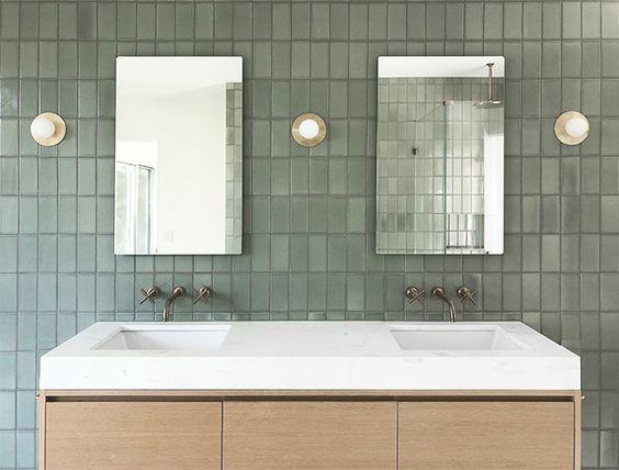 modern Jack and Jill bathroom