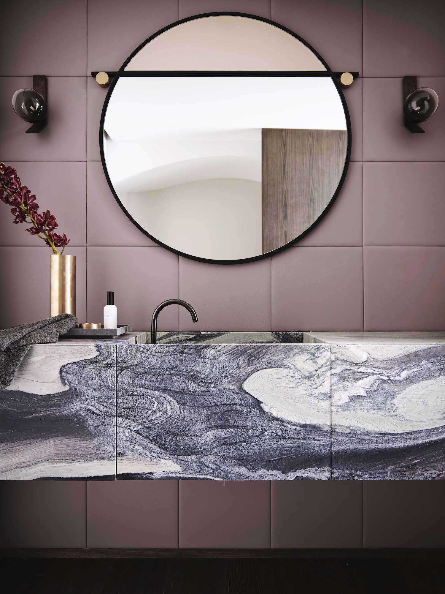purple Cipollino marble