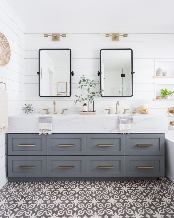 soft grey double cabinet