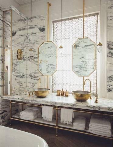 twin metal basins