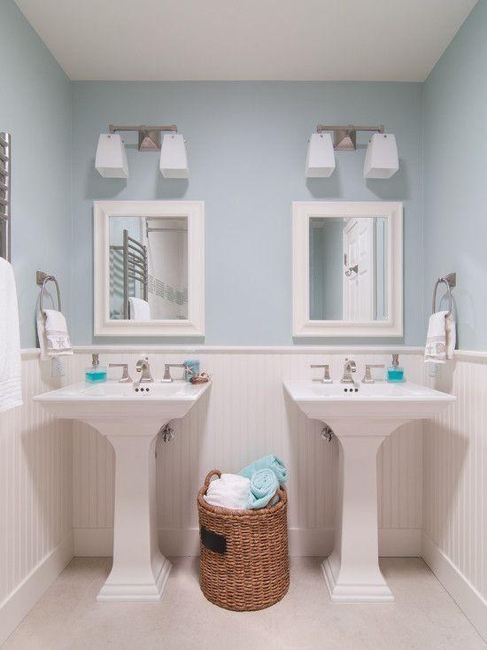 twin pedestal sinks