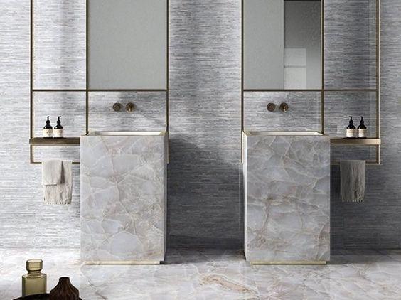 ultra modern Jack and Jill bathroom