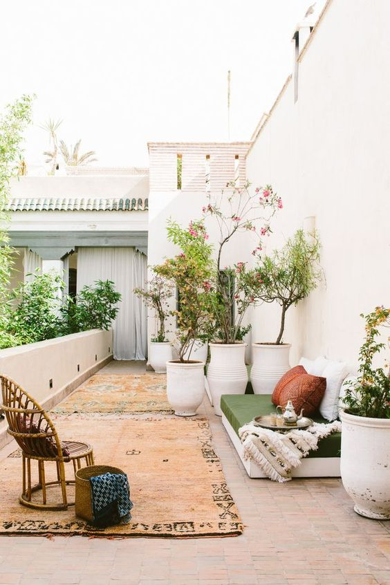 Moroccan inspired courtyard garden