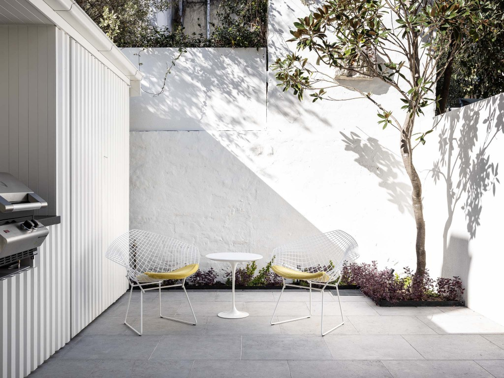 minimalist courtyard garden