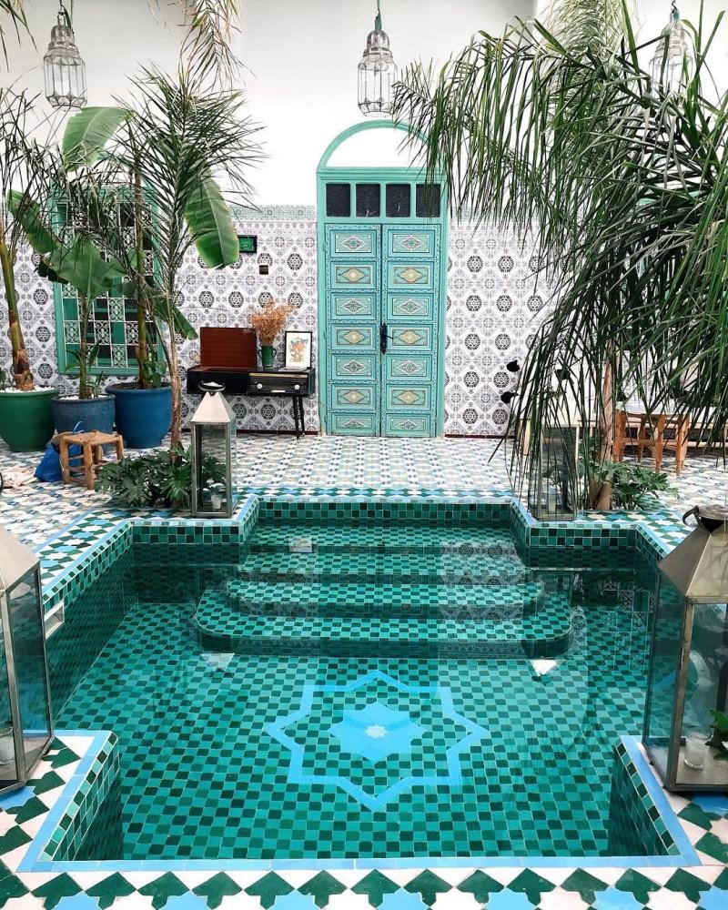 real Moroccan courtyard garden