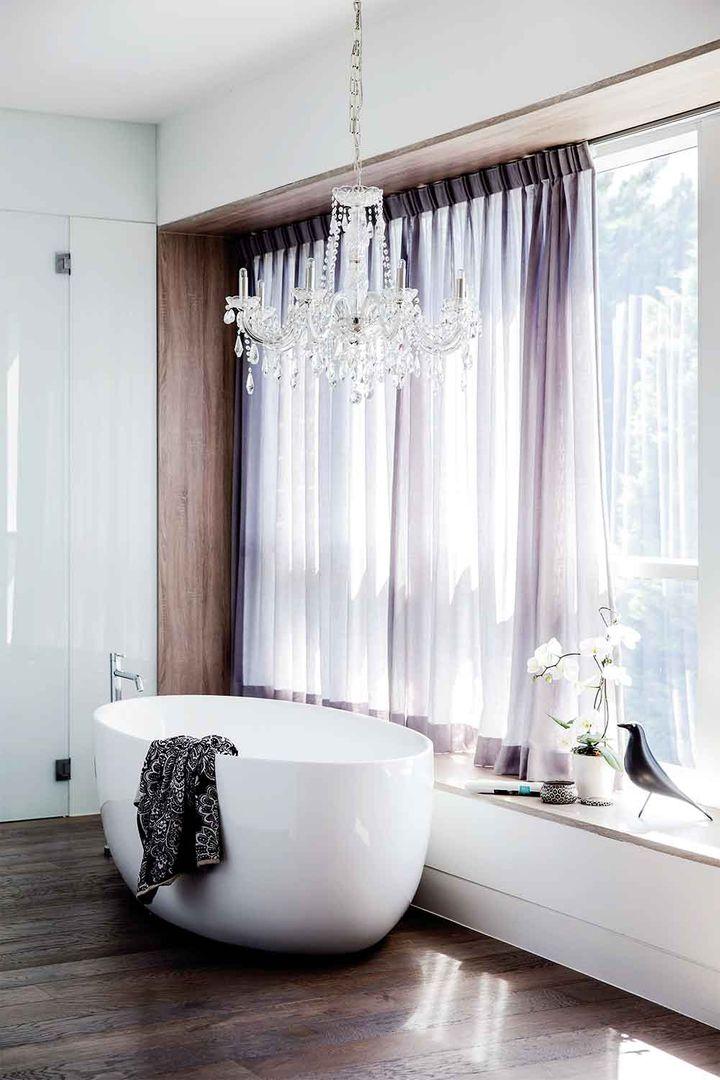 windows in luxury bathroom