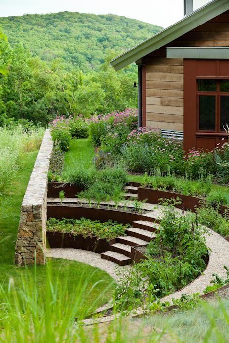 backyard terraced garden