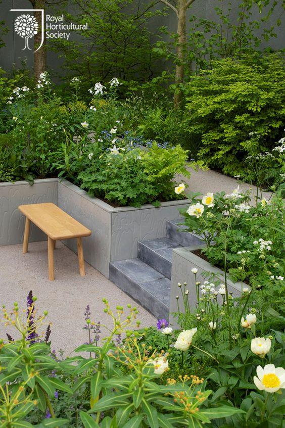 classic terraced garden