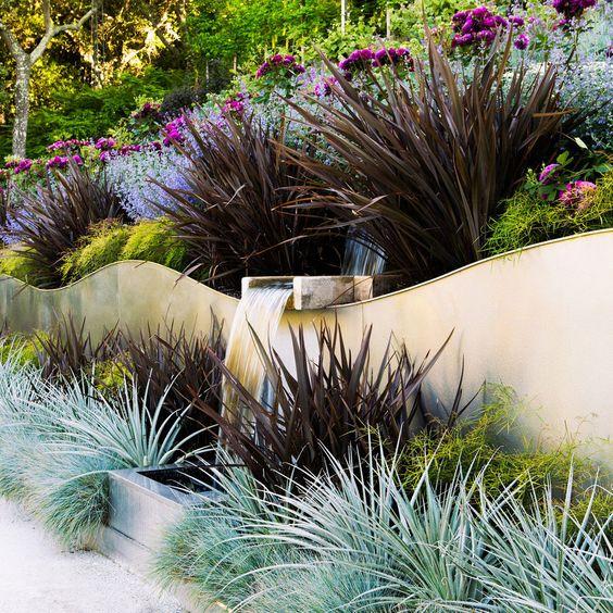 curvy organic terraced garden