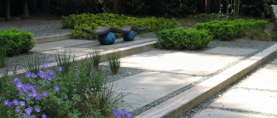 gently sloped terraced garden