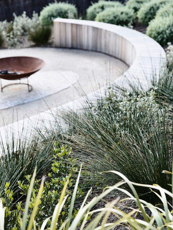 minimalist terraced garden
