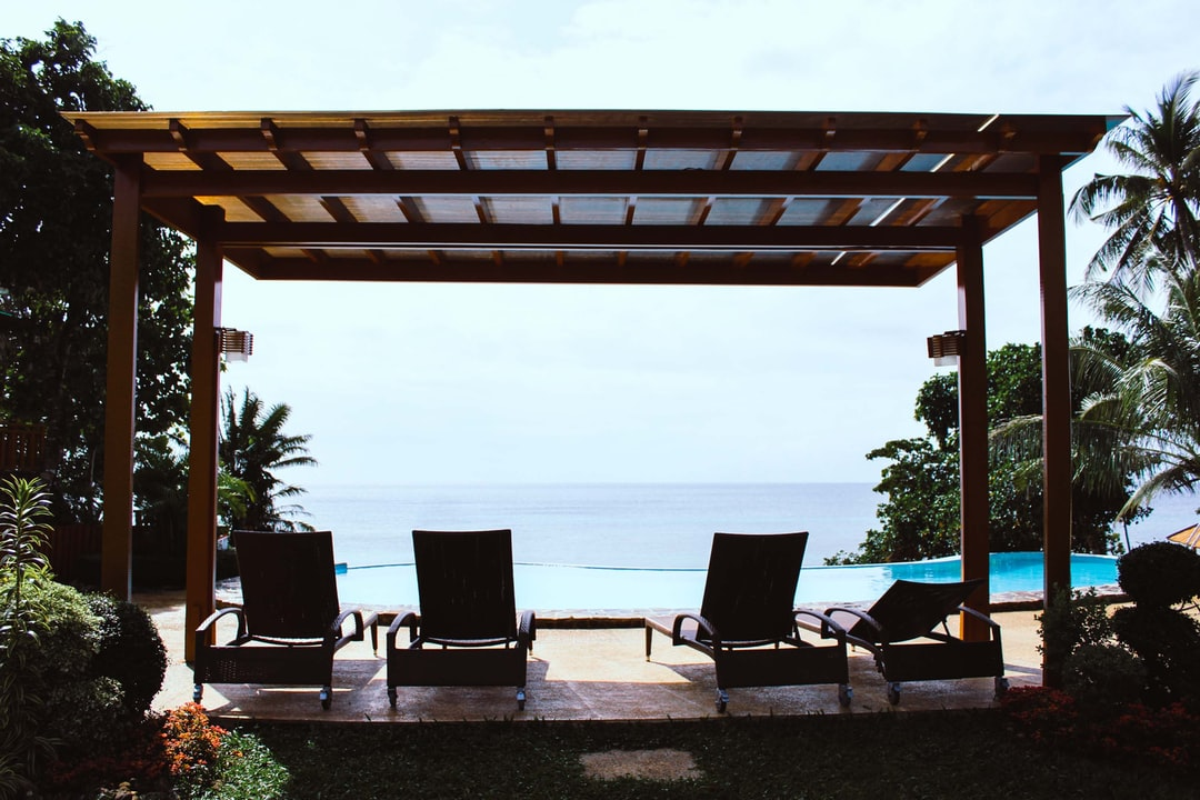 Pergola with a view of the beach