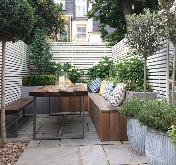 small terraced garden