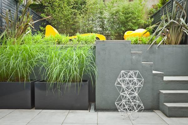 split terraced garden