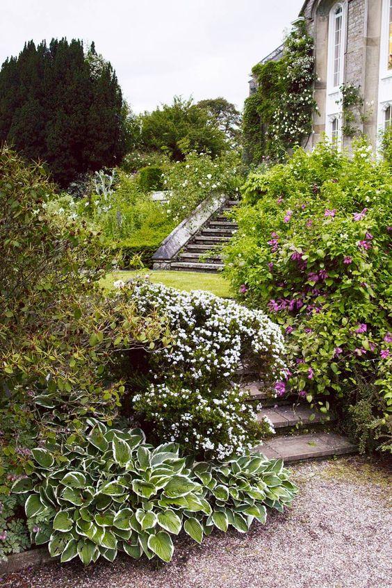 authentic english terraced garden