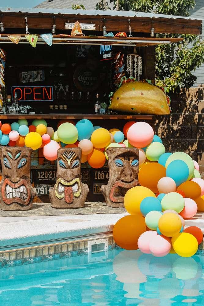 Tiki pool party idea
