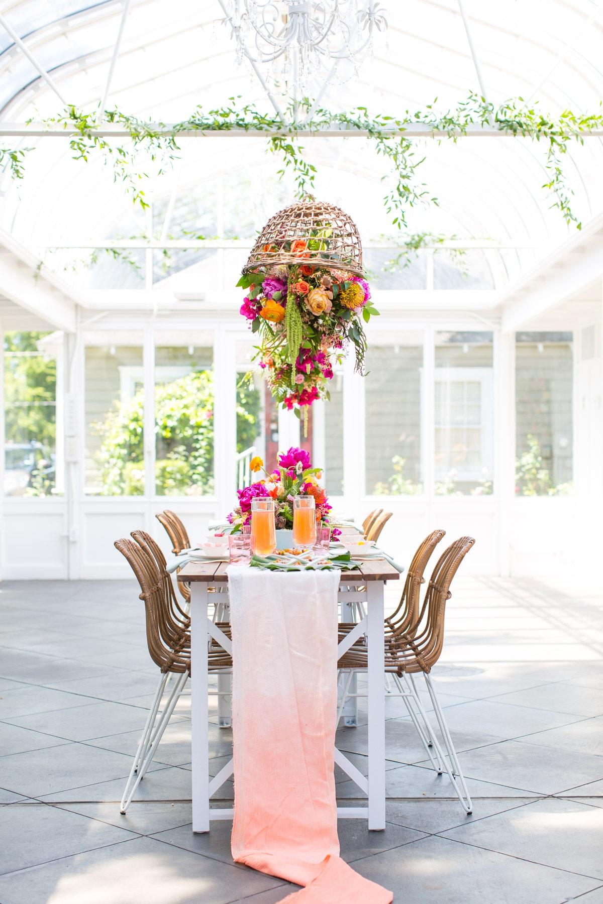 modern garden party ombre table