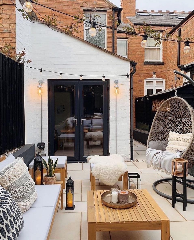 backyard terrace styling