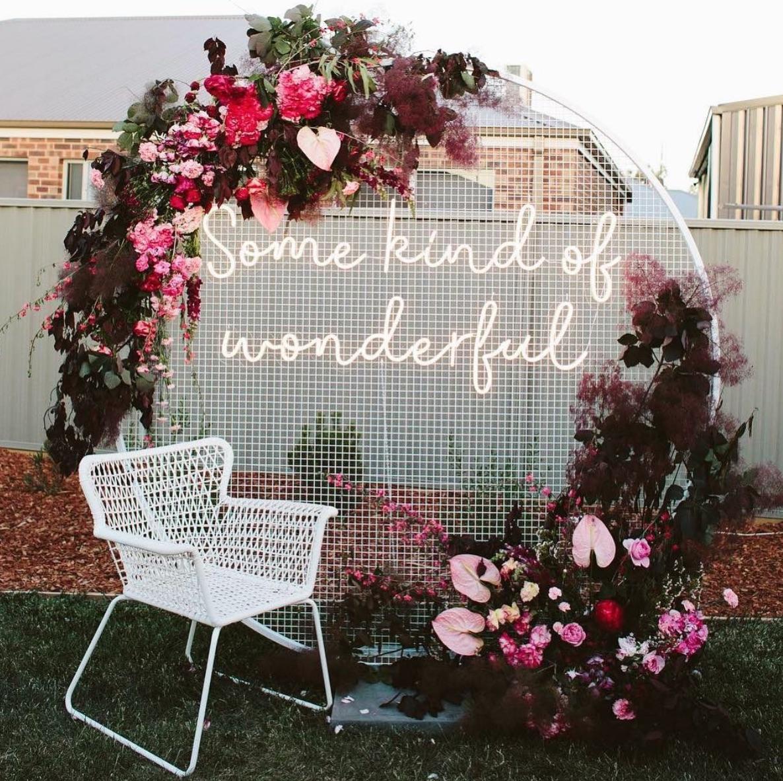 Garden party signage