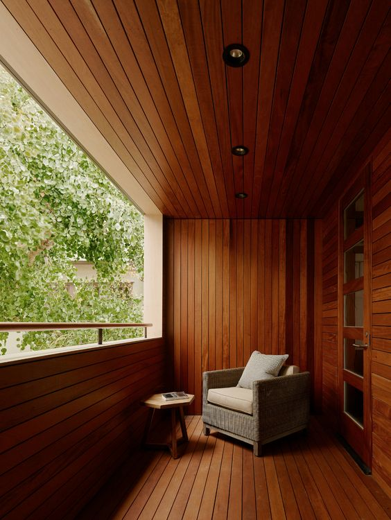all timber verandah
